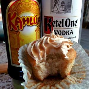 White russian cupcake