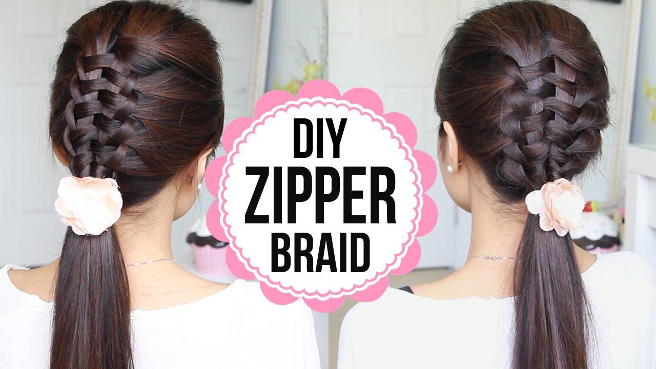 Zipper Braid Hair Tutorial