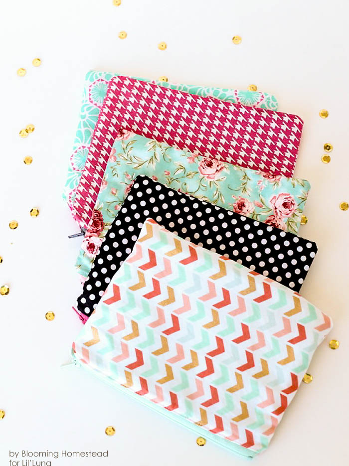 Zippered pouch tutorial diy