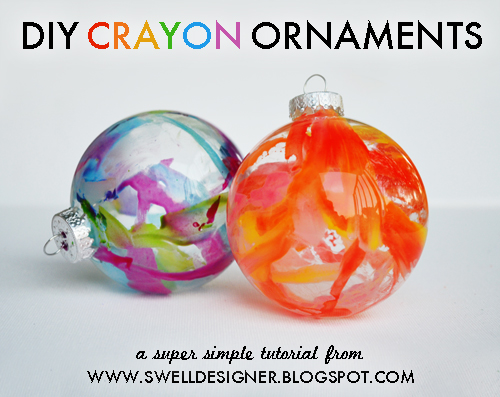 Crayon christmas ornaments