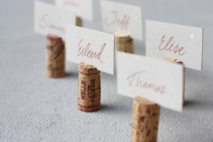 Diy cork name tags