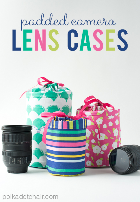 Diy padded camera lens cases