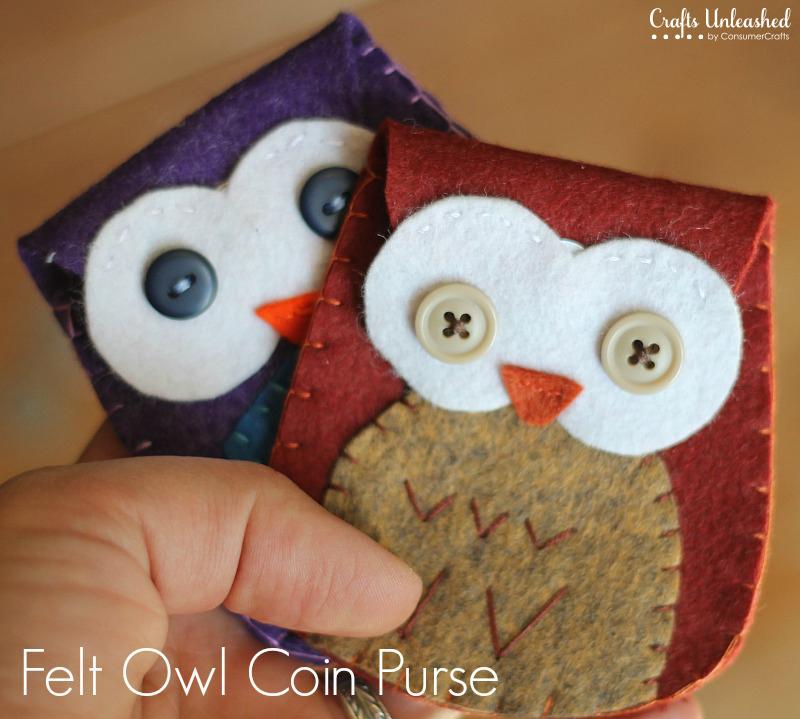 Felt owl purse