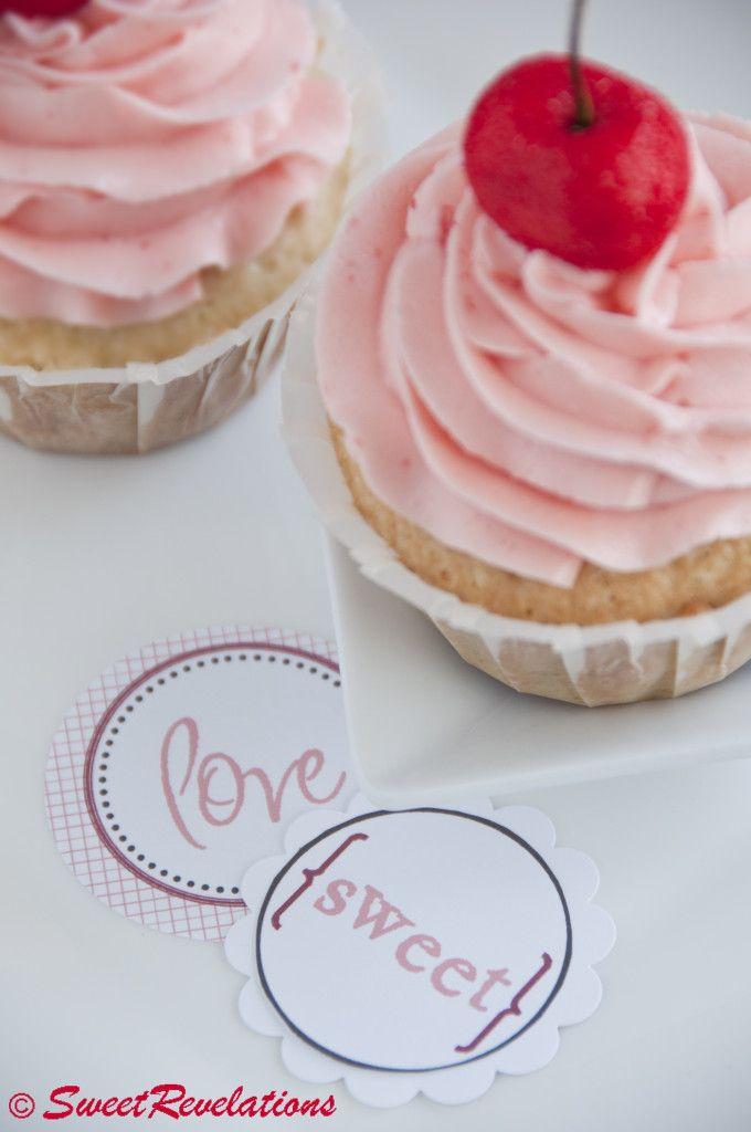 french vanilla cupcakes with maraschino