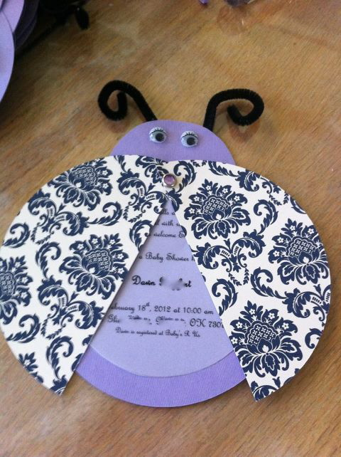 Adorable diy baby shower invites your friends will love to receive ladybug invitation solutioingenieria Choice Image
