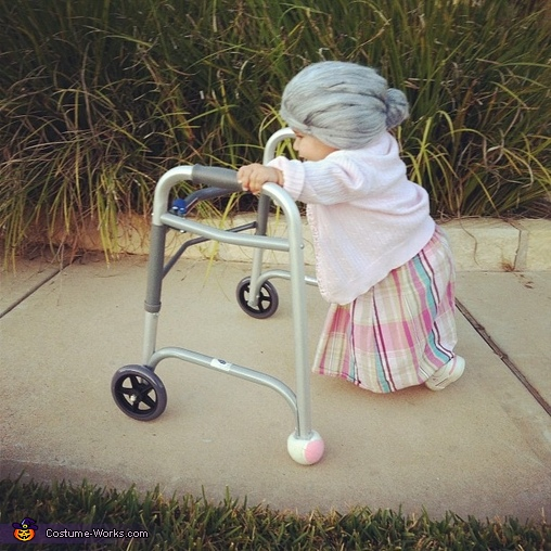 Little old lady diy baby costume