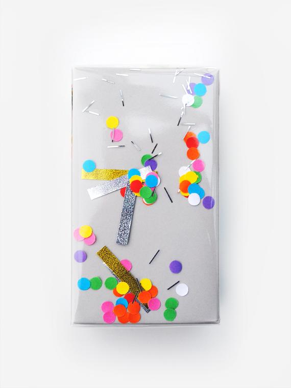 Shake confetti wrap