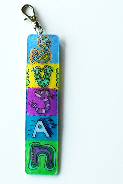 Shrinky dinks name tag diy