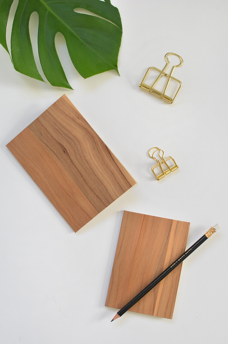 10 faux wood notebooks