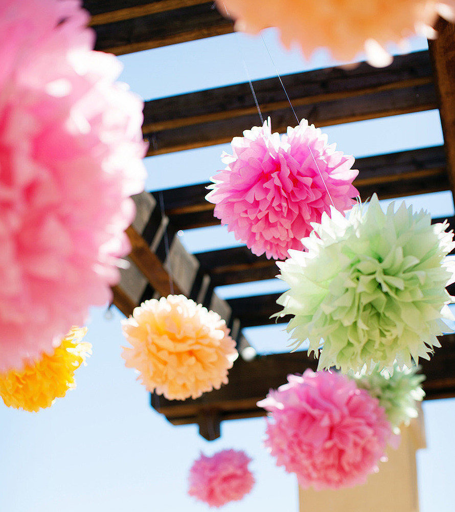 paper tissue pom poms You won't believe how easy it is to make these fluffy and bright diy tissue paper pom-pomsgreat decoration for parties, and super inexpensive as well when it comes to decorations for parties and holidays, i'm a bit of a minimalist.