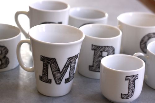 13 diy monogram sharpie mug