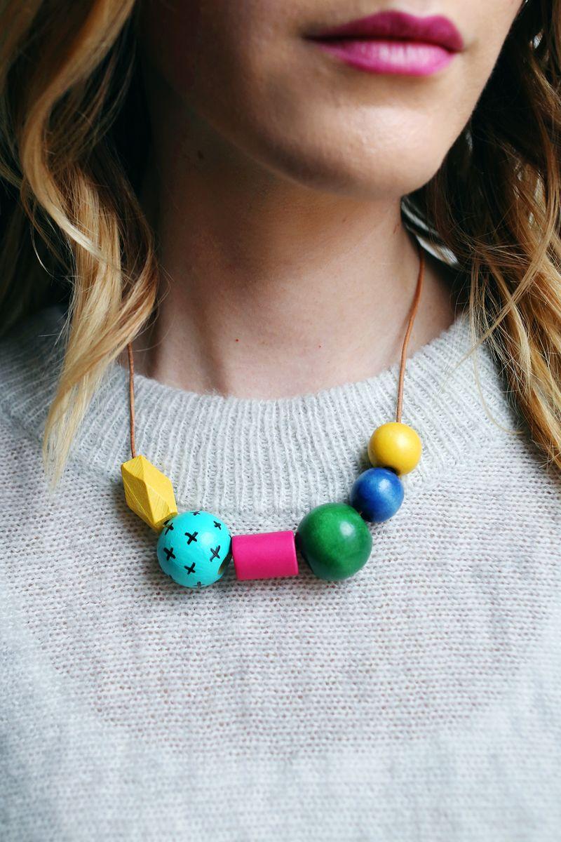 18 sharpie bead necklace