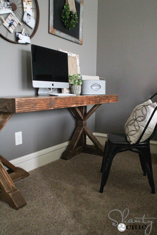 20 trestle desk diy