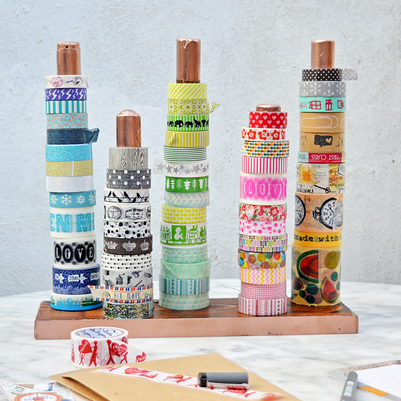 20 diy wood washi tape holder