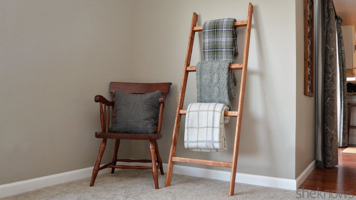 27 diy blanket ladder