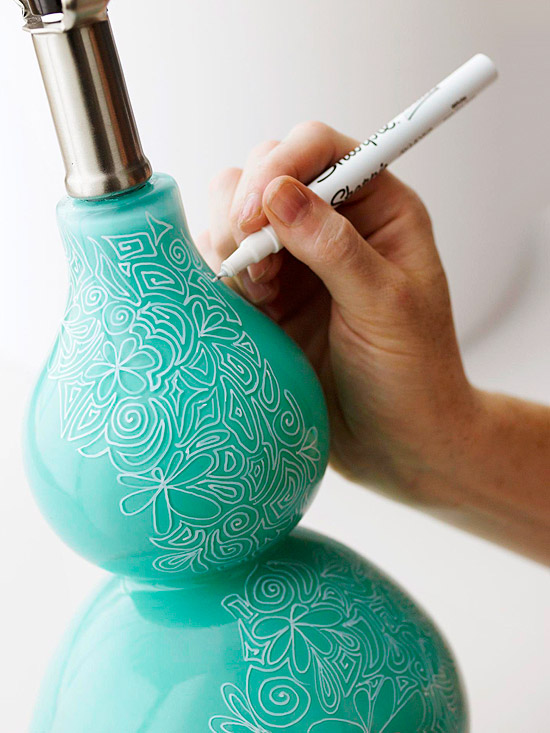27 Sharpie Lamp Art White