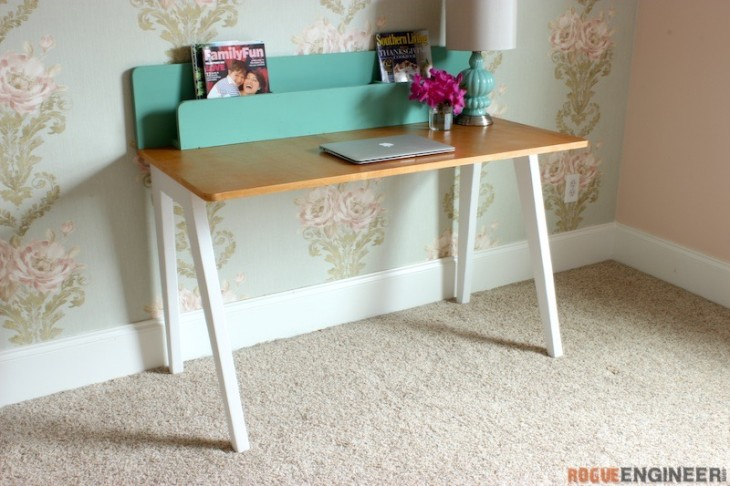 Awesome 3 Diy Modern Lindsay Desk Pictures Gallery