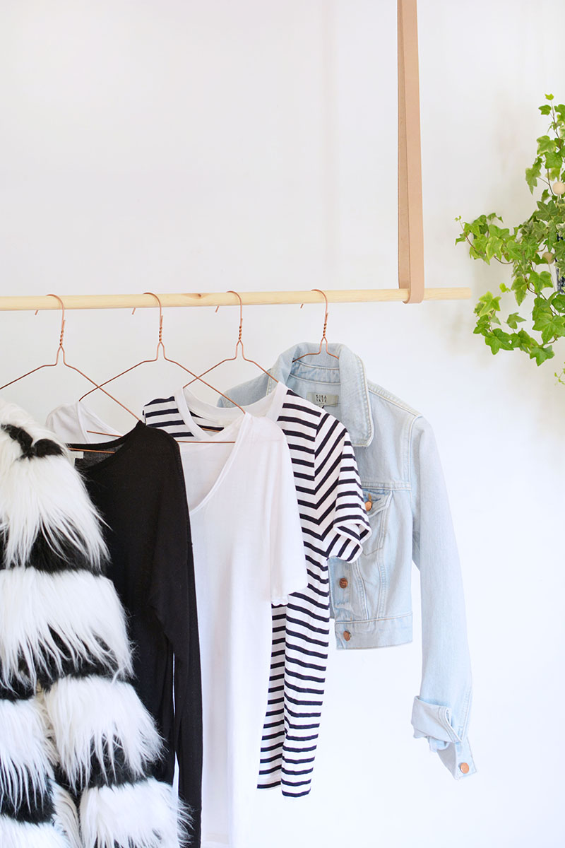 30 diy hanging clothes rail