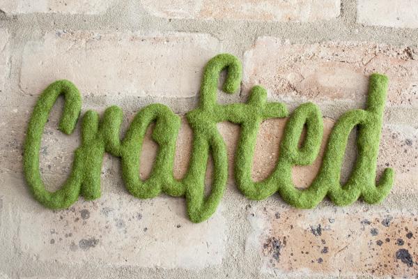 30 faux moss word