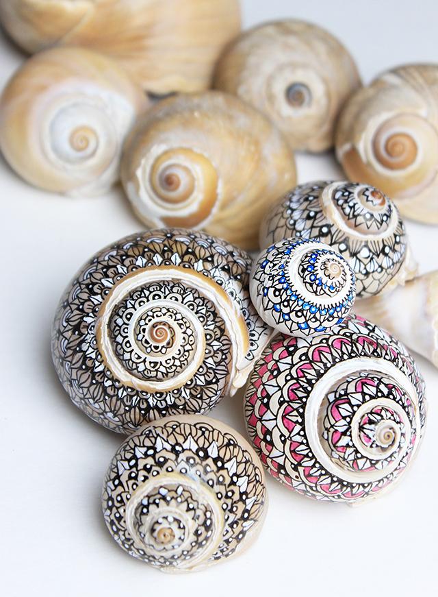 31 handmade sharpie shell gifts