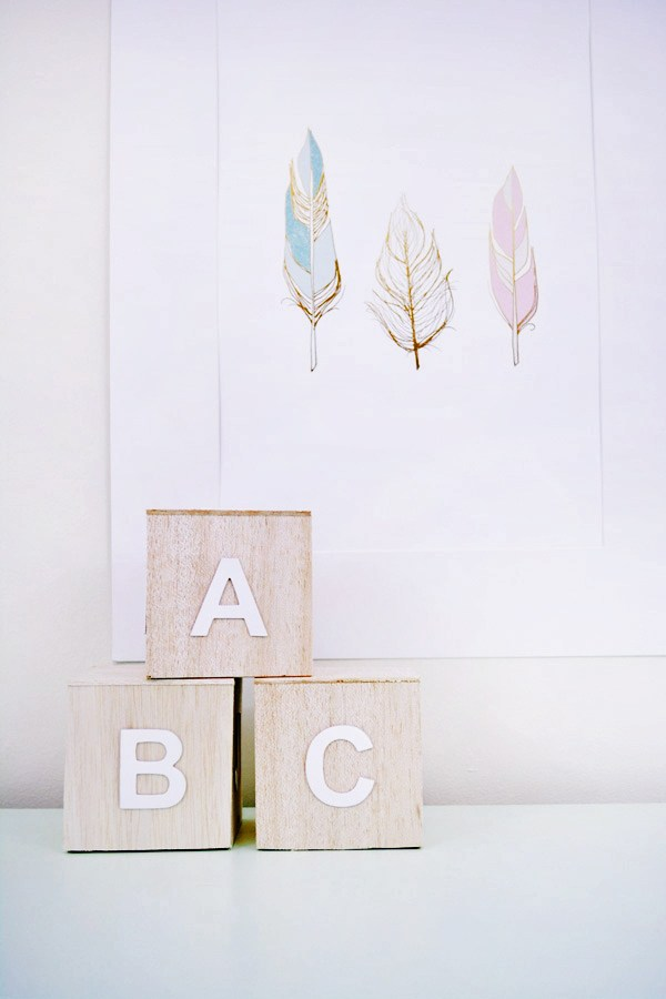 33 wood alphabet blocks