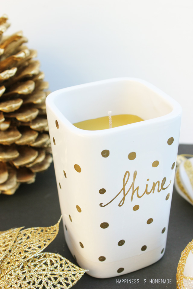 35 easy diy gold sharpie candle