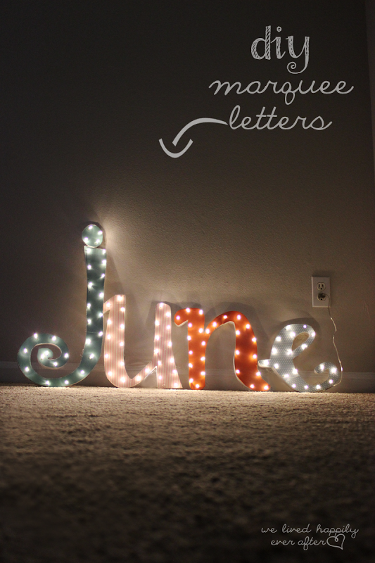 35 diy marquee letters
