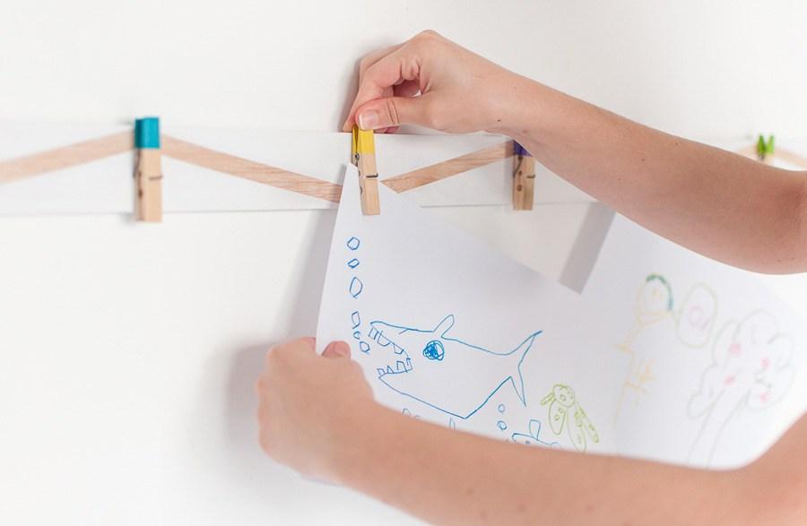 38 wood clothespin art display