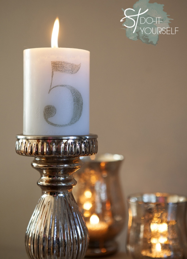 40 tissue paper transfer candle