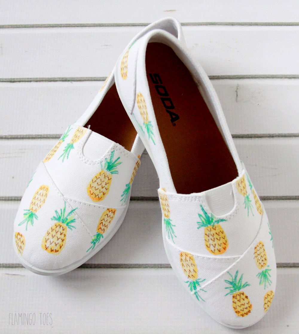 41 cute pineapple canvas shoes