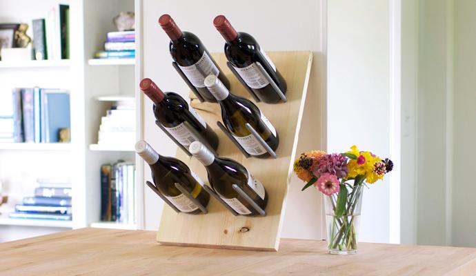 44 wood wine rack
