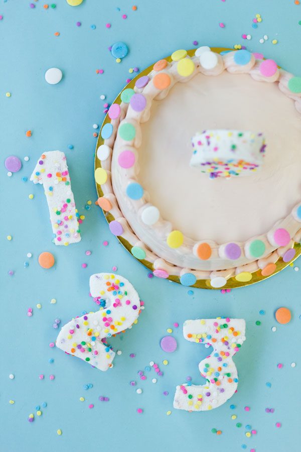 45 diy confetti marshmallow numbers