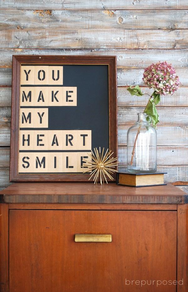 48 diy stencil letter quote
