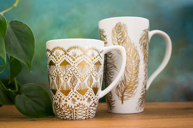49 Gold Painted Mugs Diy