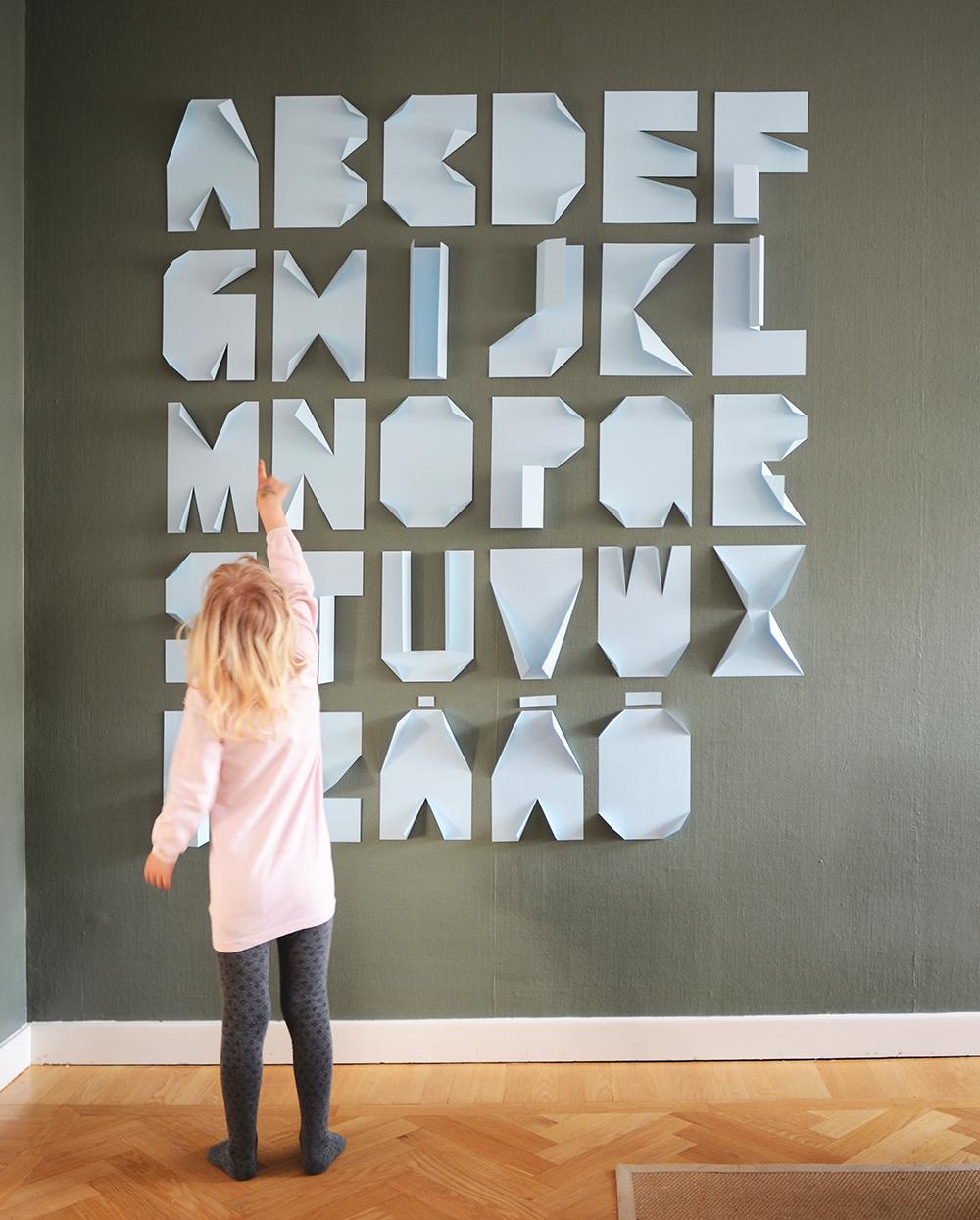 49 paper folded alphabet
