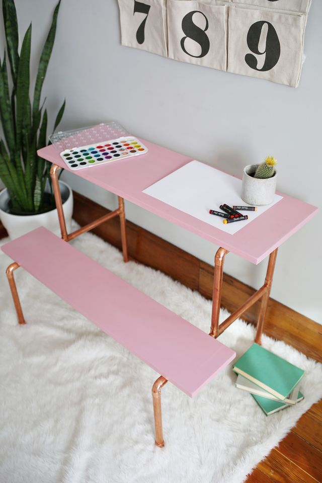 5 diy copper pipe childs desk