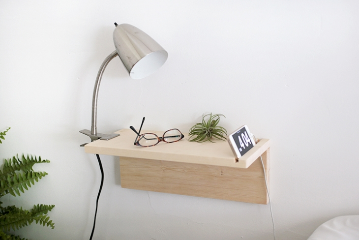 50 diy floating wood night stand
