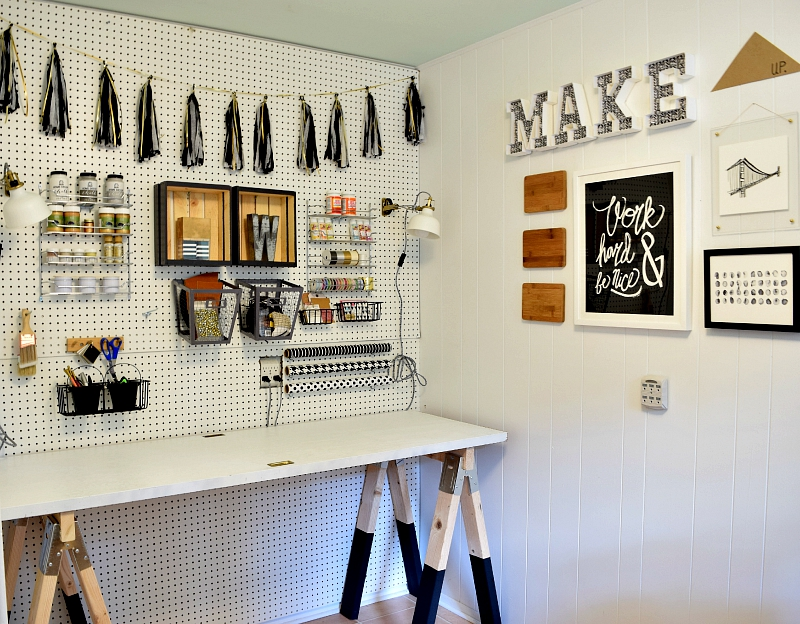 Diy Craft Room Desk 7 Sawhorse