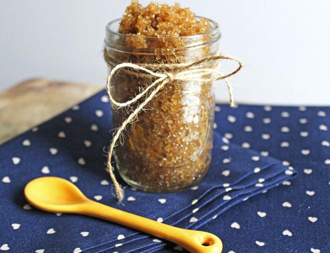 9 coconut oil sugar scrub
