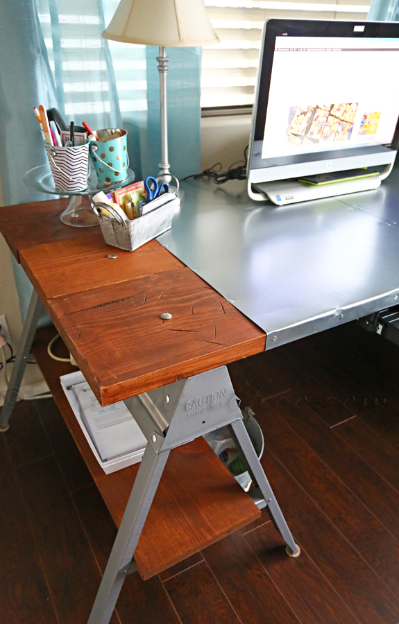 9 industrial sawhorse desk