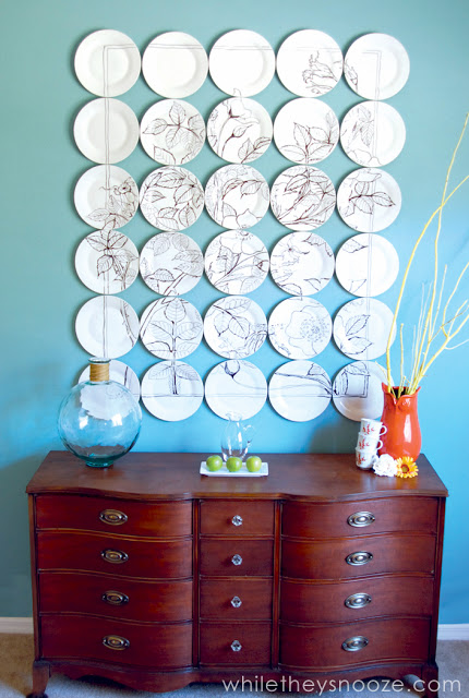 9 plate wall diy