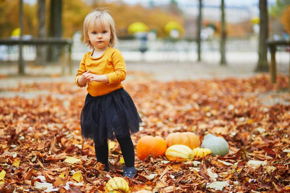 Baby fancy dress fall colors