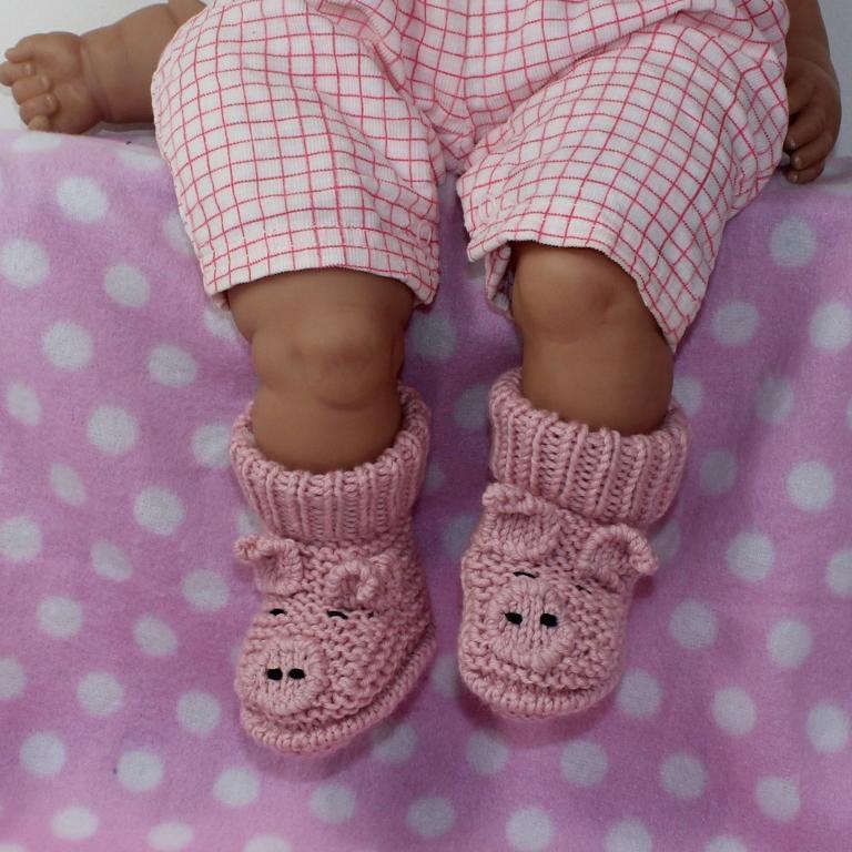Baby piggy boots