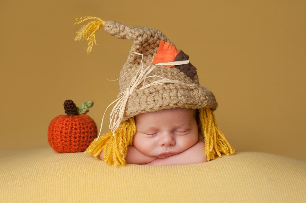 Baby's first halloween costume adorable scarecrow