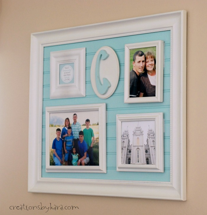Beadboard frame collage
