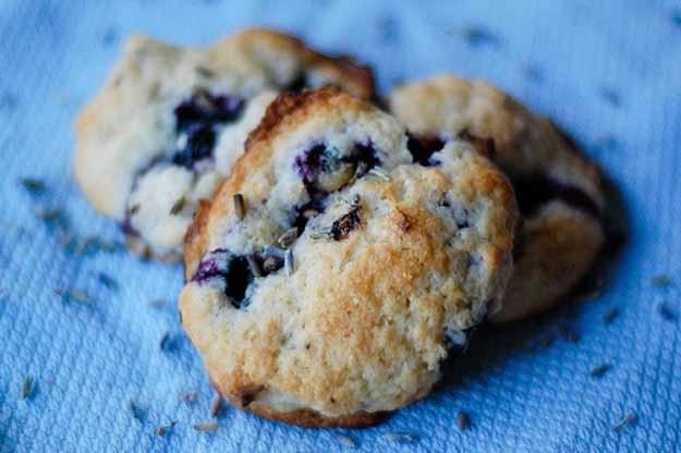 Blueberry lavender shortcake cookies