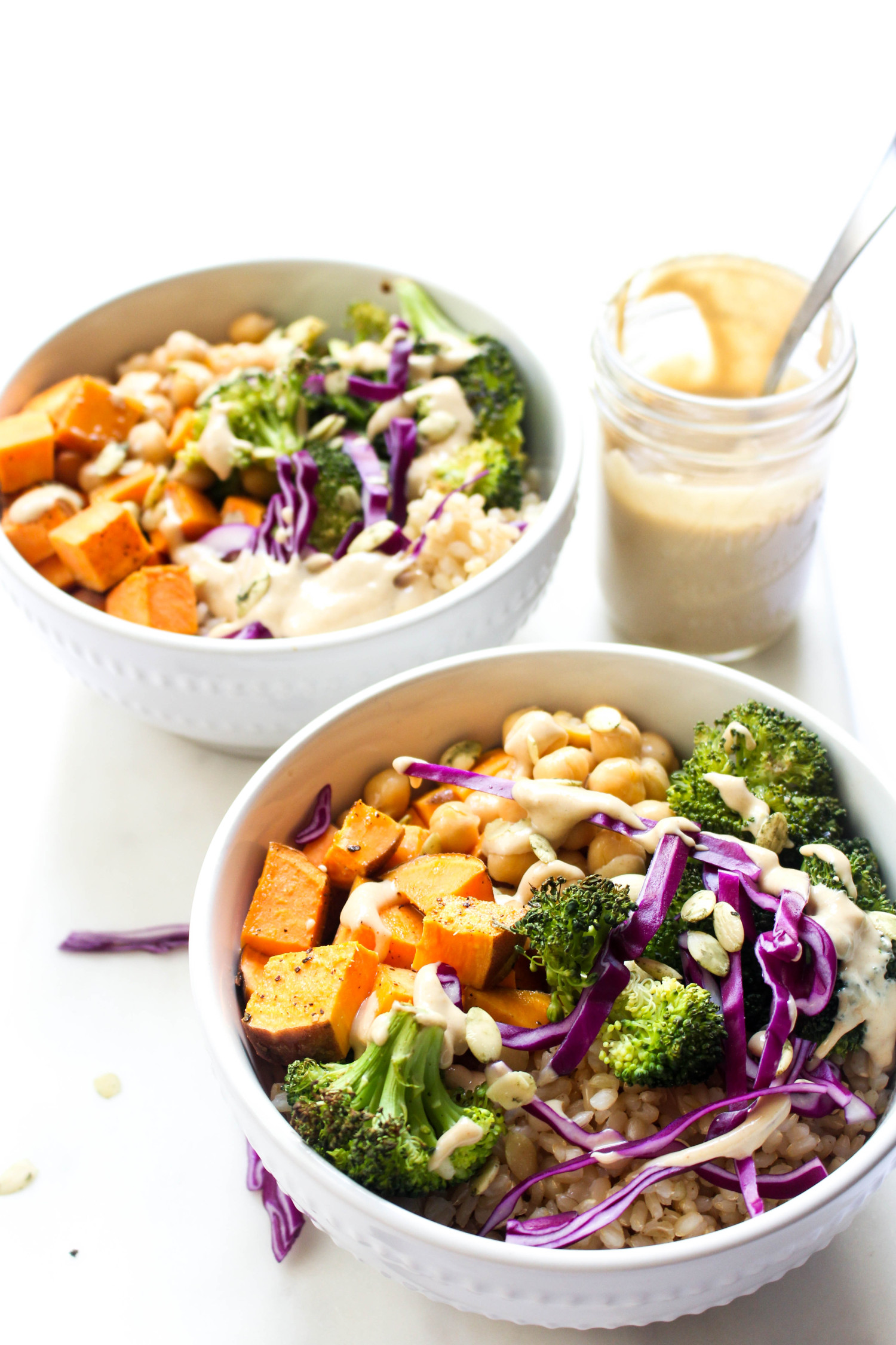 Buddha bowls with ginger tahini dressing recipe