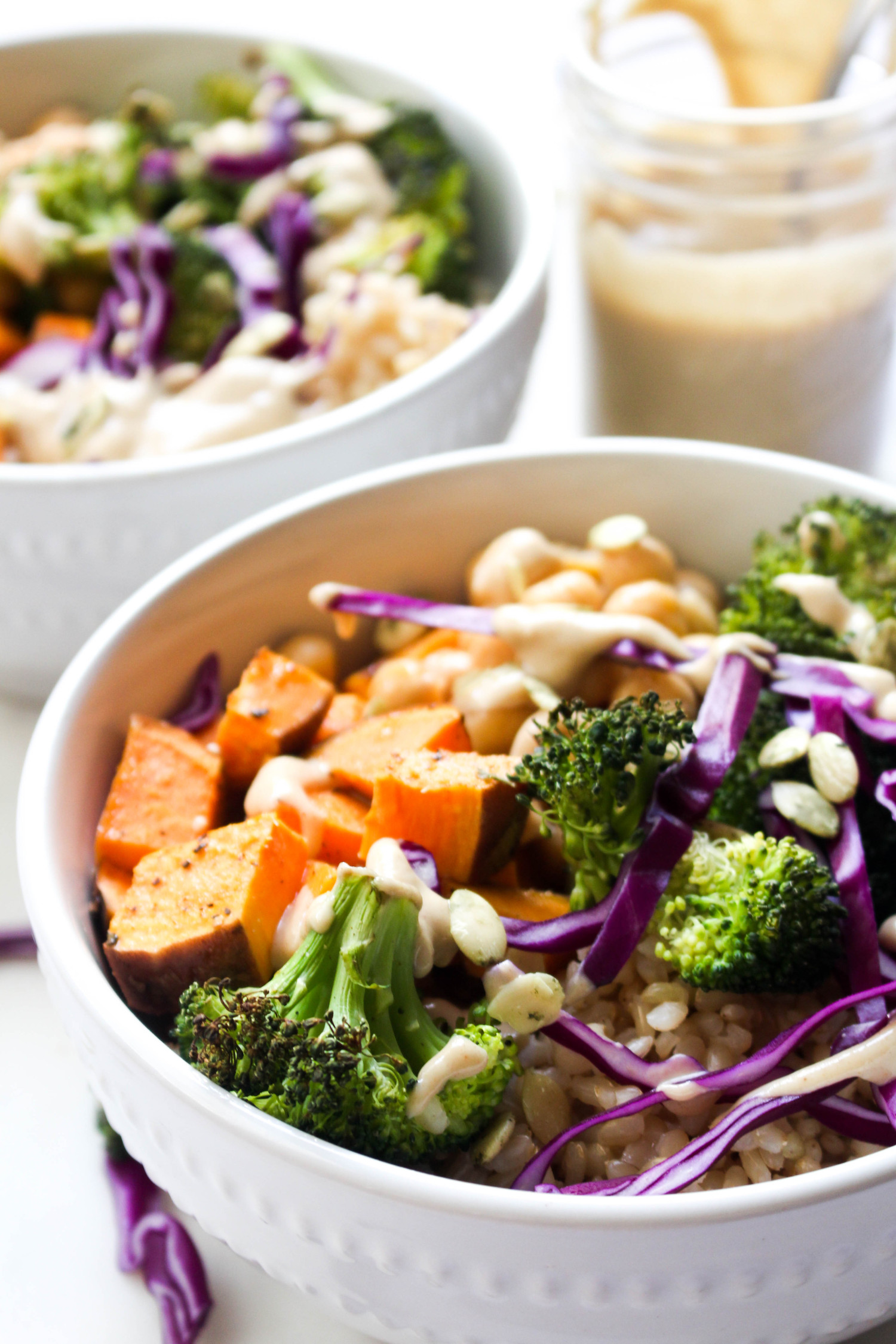 Buddha bowls with ginger tahini dressing simple recipe
