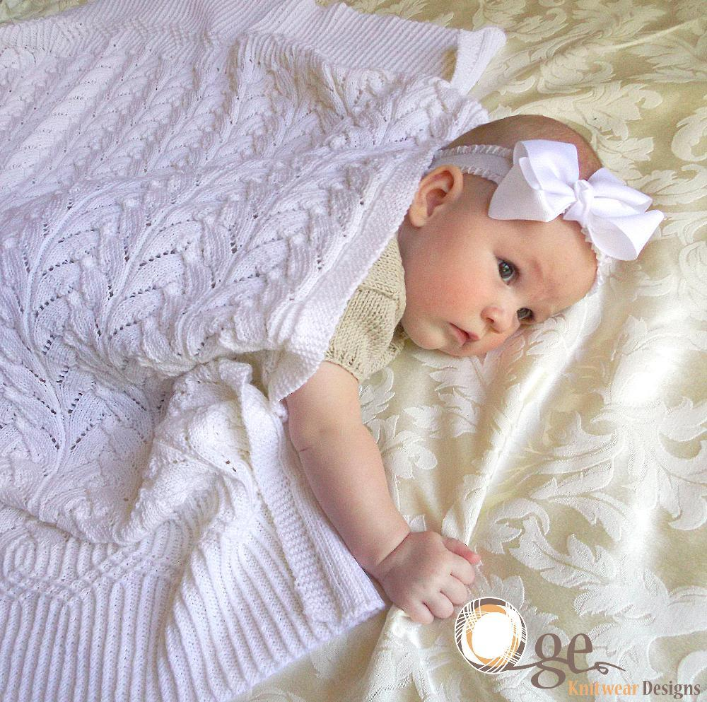 Cathedral heirloom baby blanket
