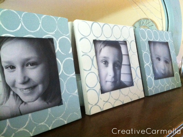 Circle diy picture frame